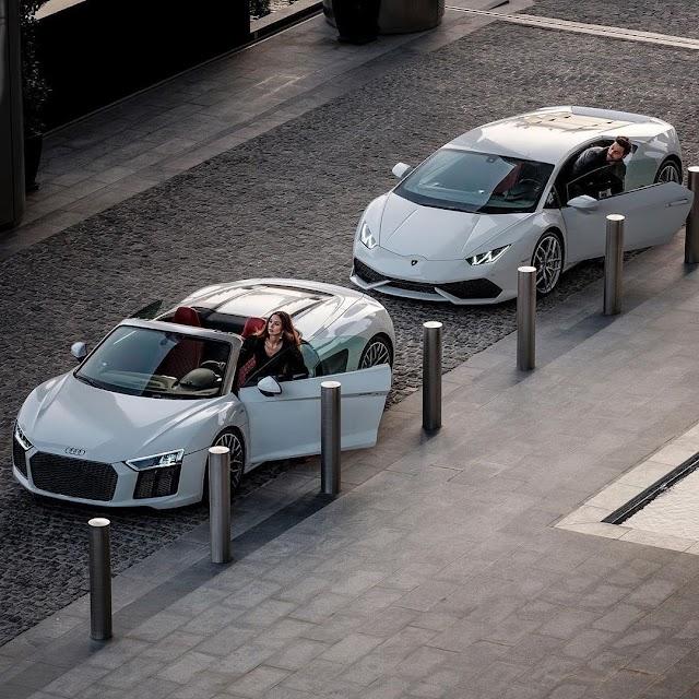 Audi R8 V10 Spyder and Lamborghini Huracan