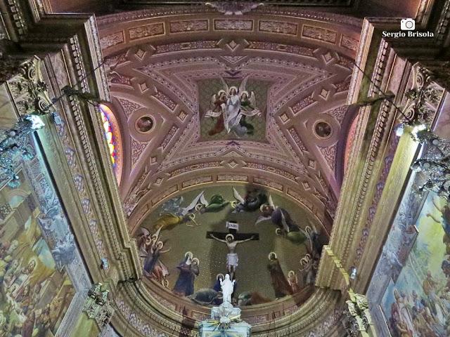 Vista da abóbada do Altar-mor da Paróquia Santuário Sagrado Coração de Jesus - Campos Elíseos - São Paulo
