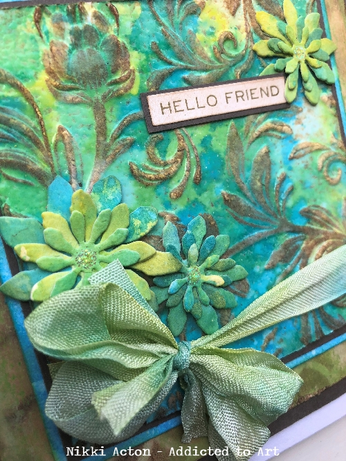 Tim Holtz 3D Texture Fades with Distress Oxide Resist