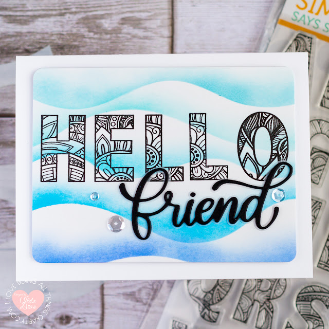 Hello Friendship Cards | Ornate Alphabet | Simon Says Stamp Rest and Refresh Release by ilovedoingallthingscrafty.com
