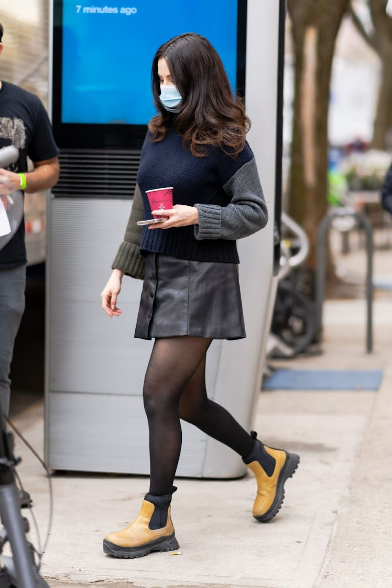 Selena Gomez Clicked on the Set of Only Murders in the Building in New York 10 Apr