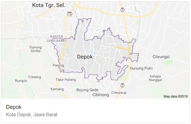 Gambar Peta Kota Depok HD Lengkap