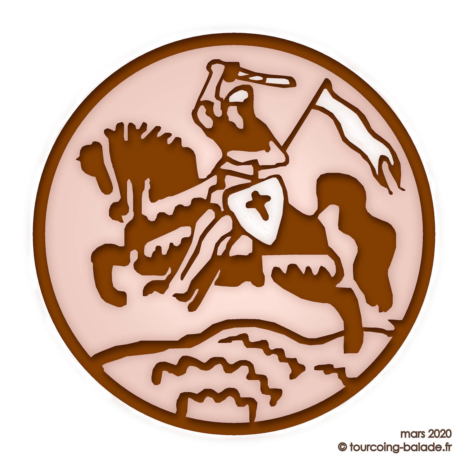 écusson Chocolaterie-Confiserie Saint-Jacques, Tourcoing
