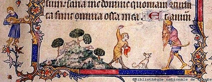 Combate entre Davi e Golias, Biblioteque Nationale de France, Petites Heures de Jean de Berry