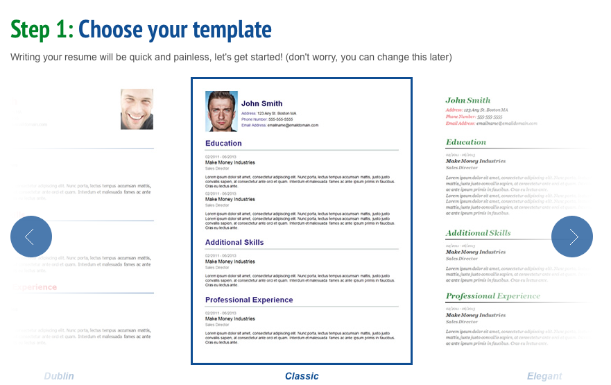 new resume format 2014 template