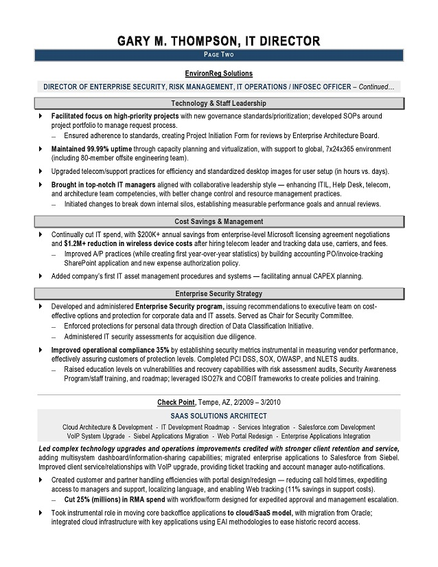 It Manager Resume Samples Sample Resumes