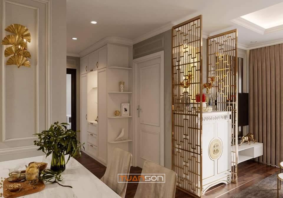 Thiết kế Căn 55m2 Vinhomes Smart City phong cách Tân Cổ Điển