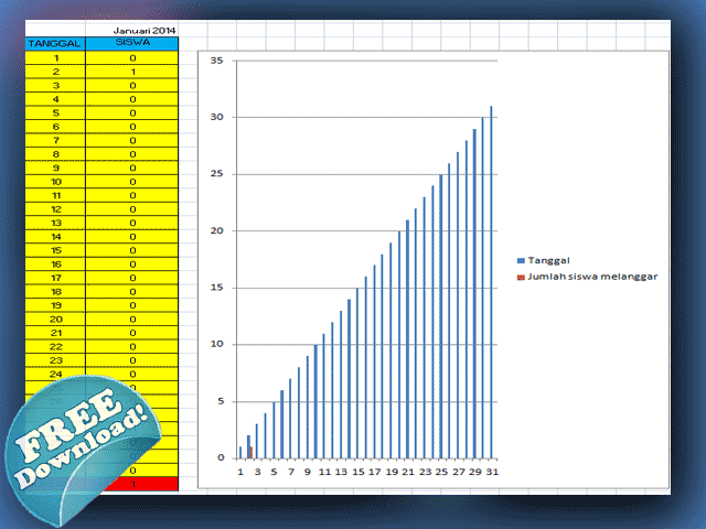 Aplikasi Perpustakaan Sekolah Format Excel