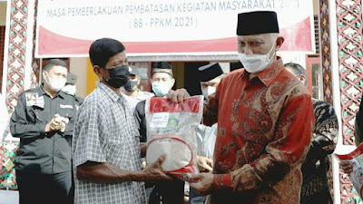 Sebanyak 358 KPM di Kampuang Pinang Terima Bantuan Beras