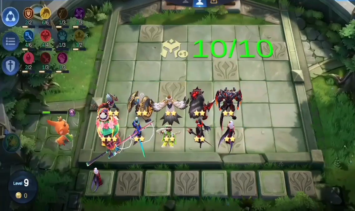 6 Dragon Altar + 4 Abyss + 3 Mage + 2 Blood Demon + 2 Targeman