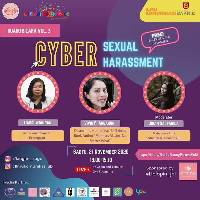 vivid f argarini Universitas bakrie cyber sexual harassment