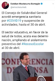 Suspensión de actividades educativas hasta el 30 de abril: SEP