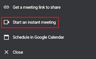 start an instant meeting