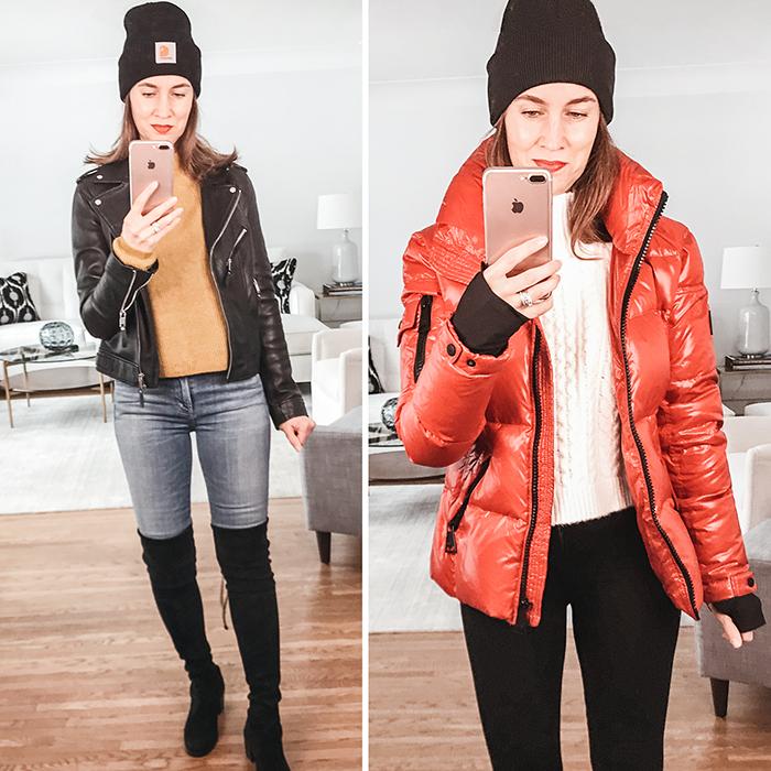 carhartt winter coat style blogger mirror selfie style 2020