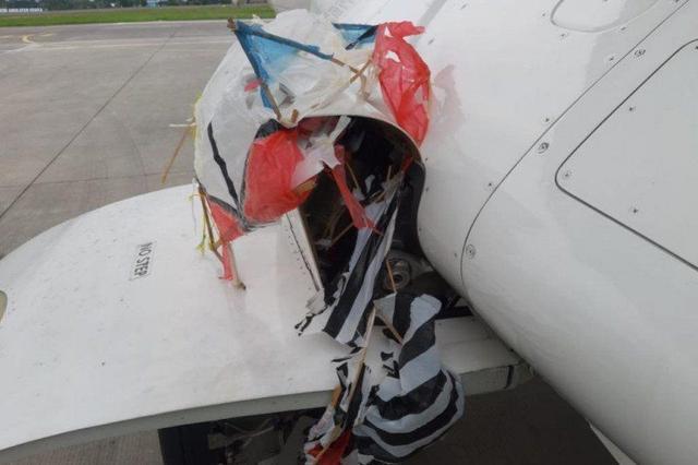 Ngeri, Layangan Besar Tersangkut di Roda Pesawat Citilink saat Akan mendarat di Bandara