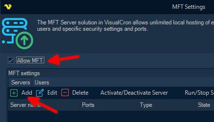 VisualCron: MFT (Managed File Transfer)