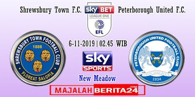 Prediksi Shrewsbury Town vs Peterborough United — 6 November 2019