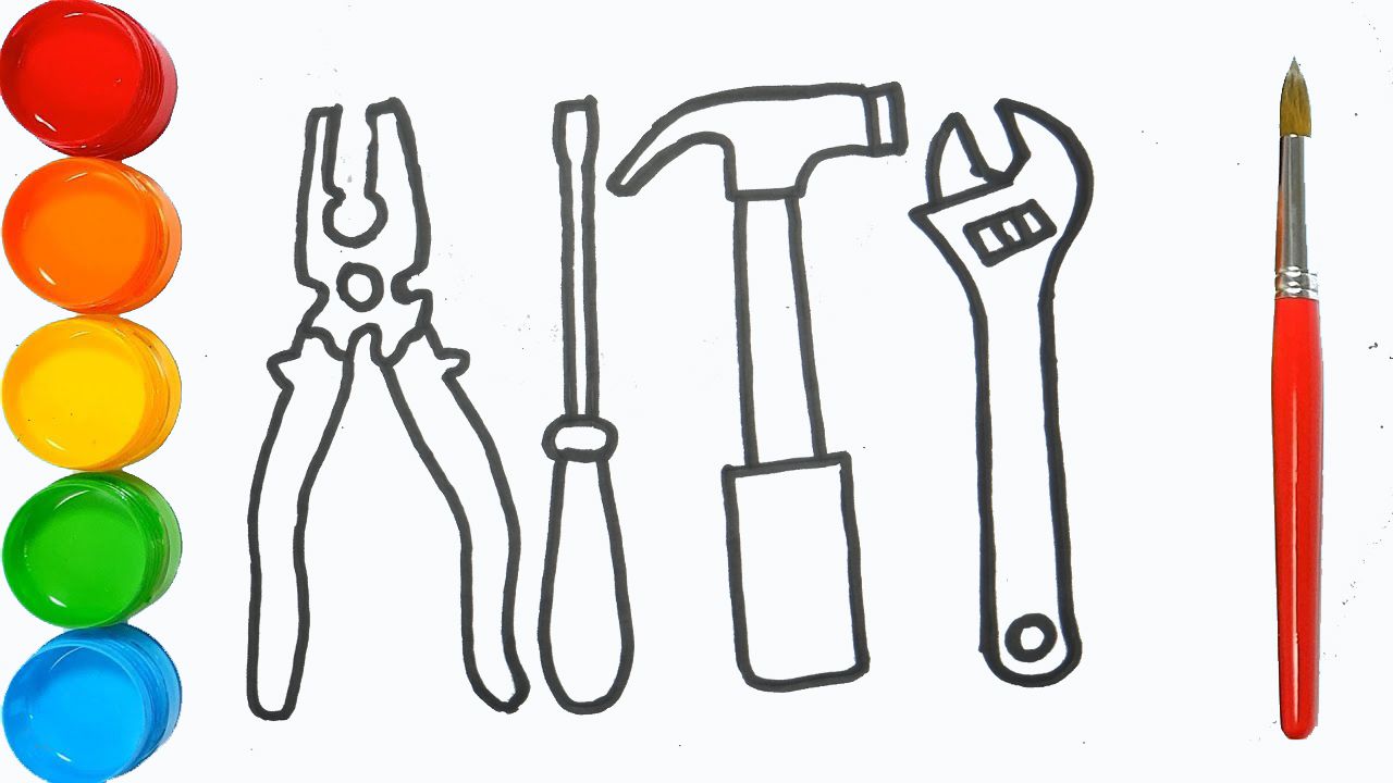 Glitter Toy Repair Tools Coloring Pages Baby Repair Tools