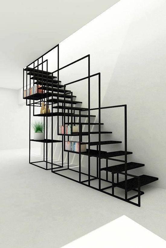 11 ide inspirasi desain tangga minimalis dengan pijakan pipih