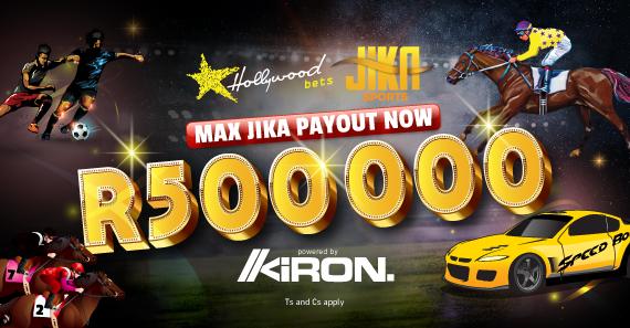 Jika Sports R500 000 Max Payout