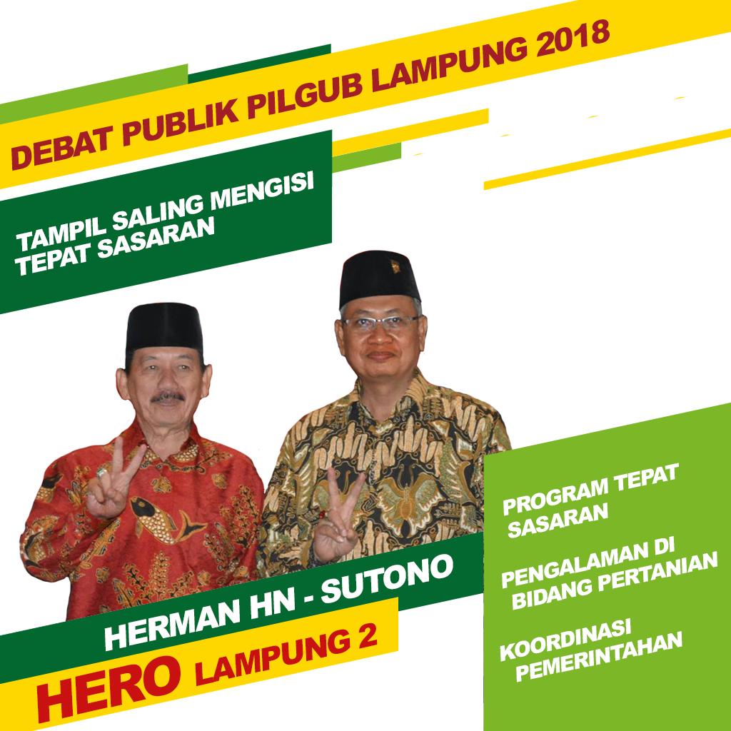 Debat Pilgub Lampung Tampil Saling Mengisi Tepat Sasaran