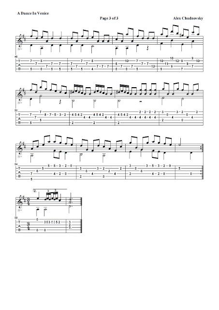 Partitura Guitarra Alex Chudnovsky