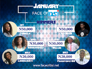 Join Face of DSI February Contest and Win BIG!