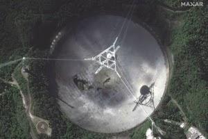 Radiotelescópio Arecibo desmoronou