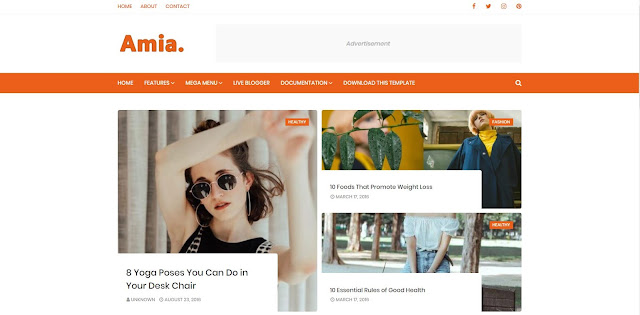 amia new blogger template