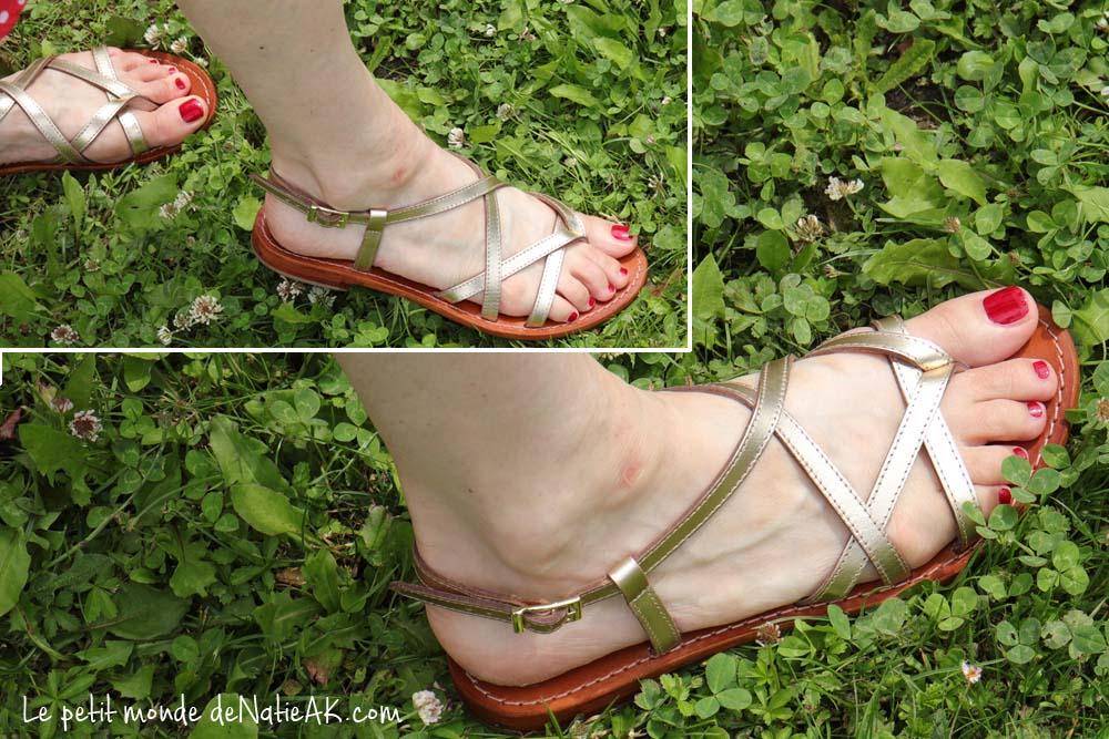 sandales dorées Besson Avis