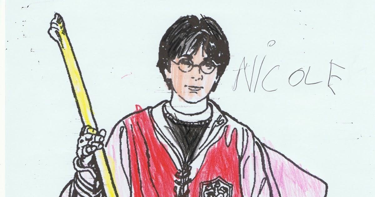 Dibujos Para Colorear Harry Potter: Las Cosas De Nicole: DIBUJO HARRY POTTER
