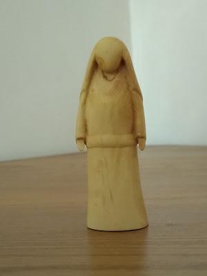 Marie du OUI, sculpture en buis