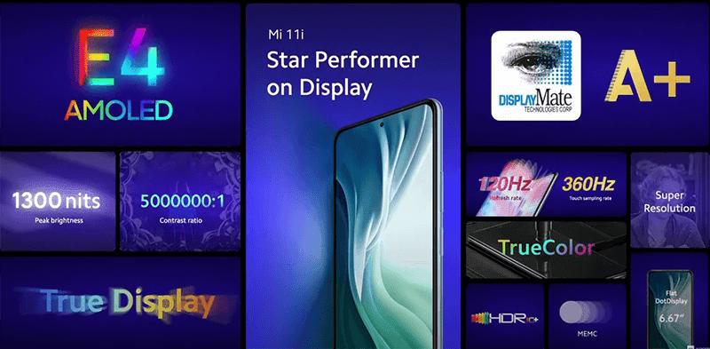 Xiaomi Mi 11i screen