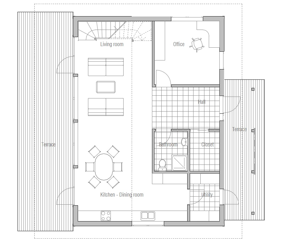 Home Designs October 2012: Contemporary House Plans: Small Modern House CH50