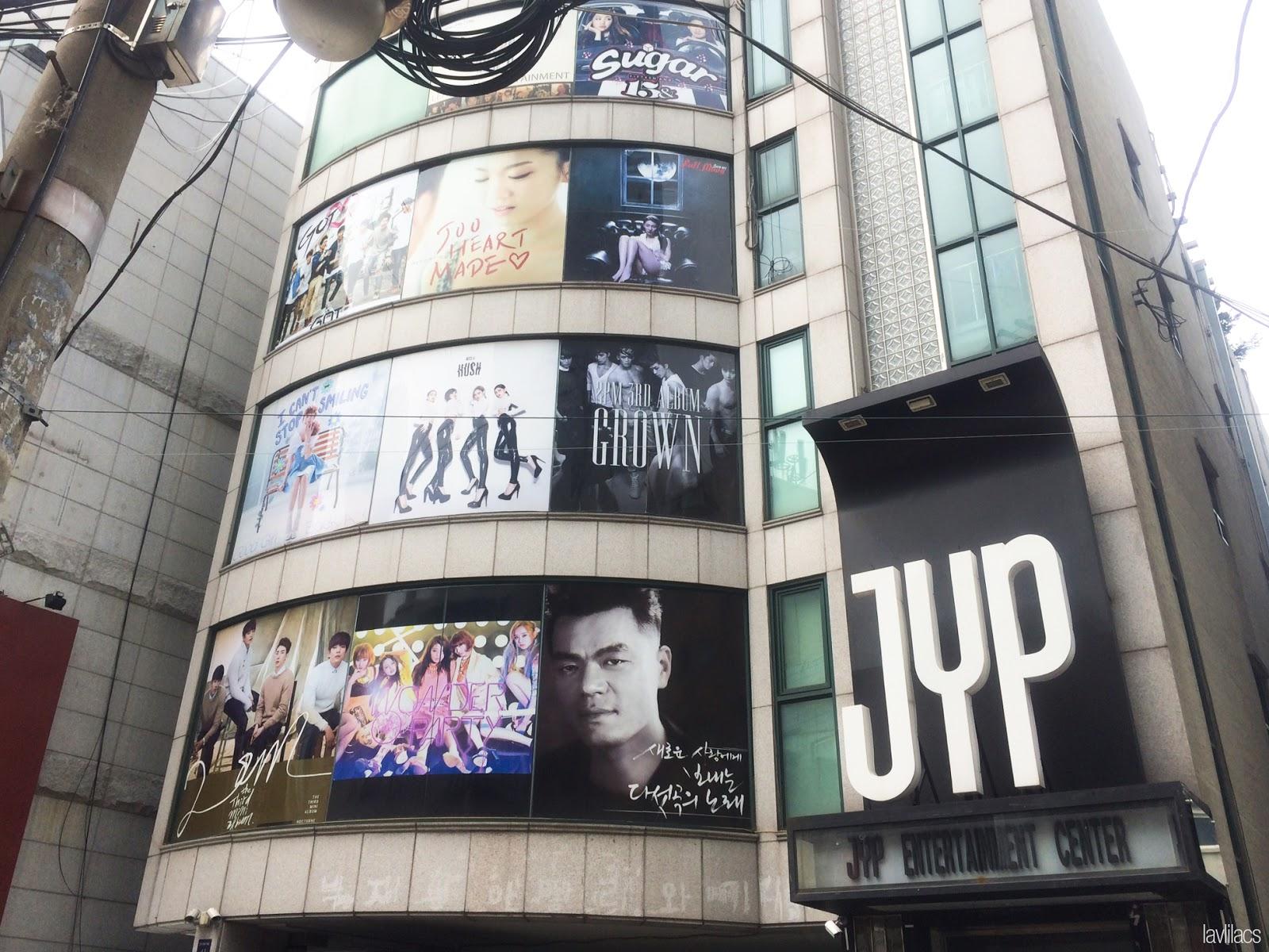 Seoul, Korea - Summer Study Abroad 2014 - JYP Entertainment building
