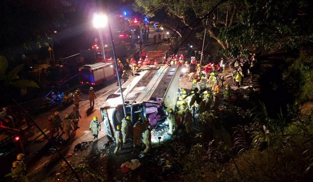 Nineteen dead, more than 60 injured in 'chaotic' Hong Kong double-decker bus crash