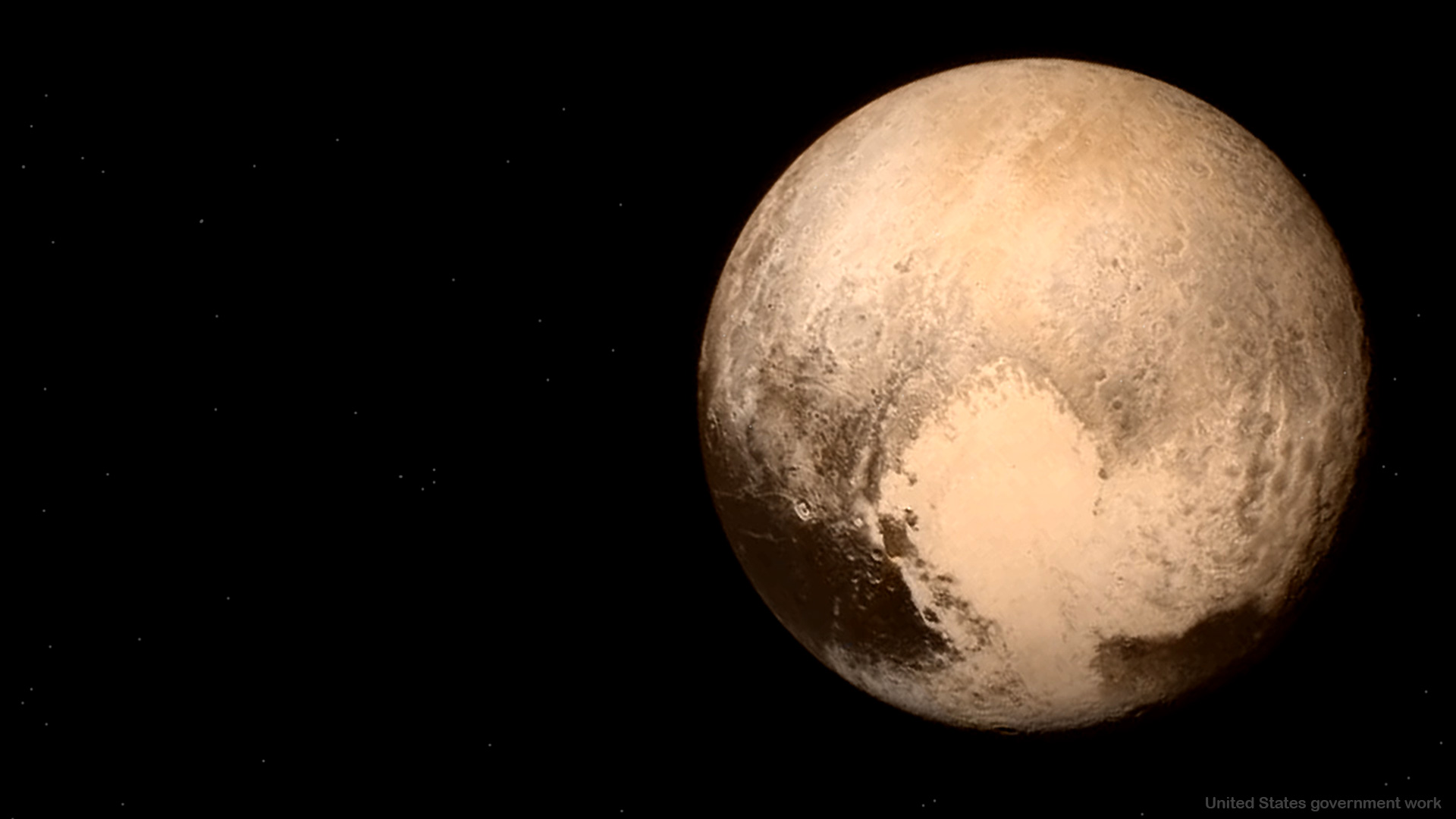 Planet Pluto Free Presentation Background