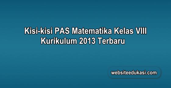 Kisi-kisi PAS Matematika Kelas 8 K13 Tahun 2019/2020