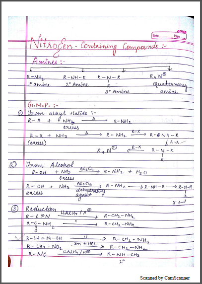 Chemistry Chapterwise Notes (Nitrogen Containing Compounds) : For JEE and NEET Exam PDF Book
