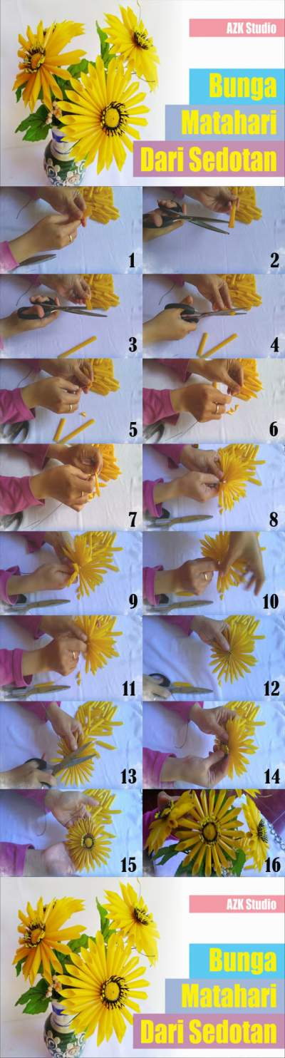 Cara Membuat Bunga Dari Sedotan Beserta Gambarnya : membuat, bunga, sedotan, beserta, gambarnya, Unduh, Bunga, Matahari, Sedotan, Beserta, Gambarnya