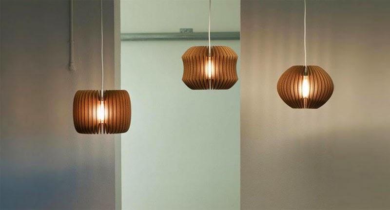 Lámparas de cartón reciclado GrayPants