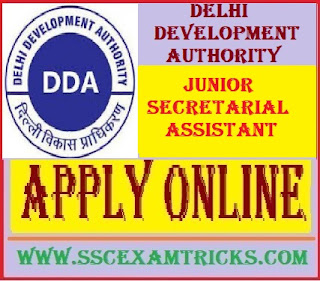 Delhi Development Authority DDA Junior Secretarial Assistant Vacancy