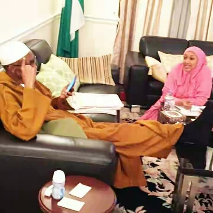 Photo Of Buhari And Daughter, Hadiza In London Emerges