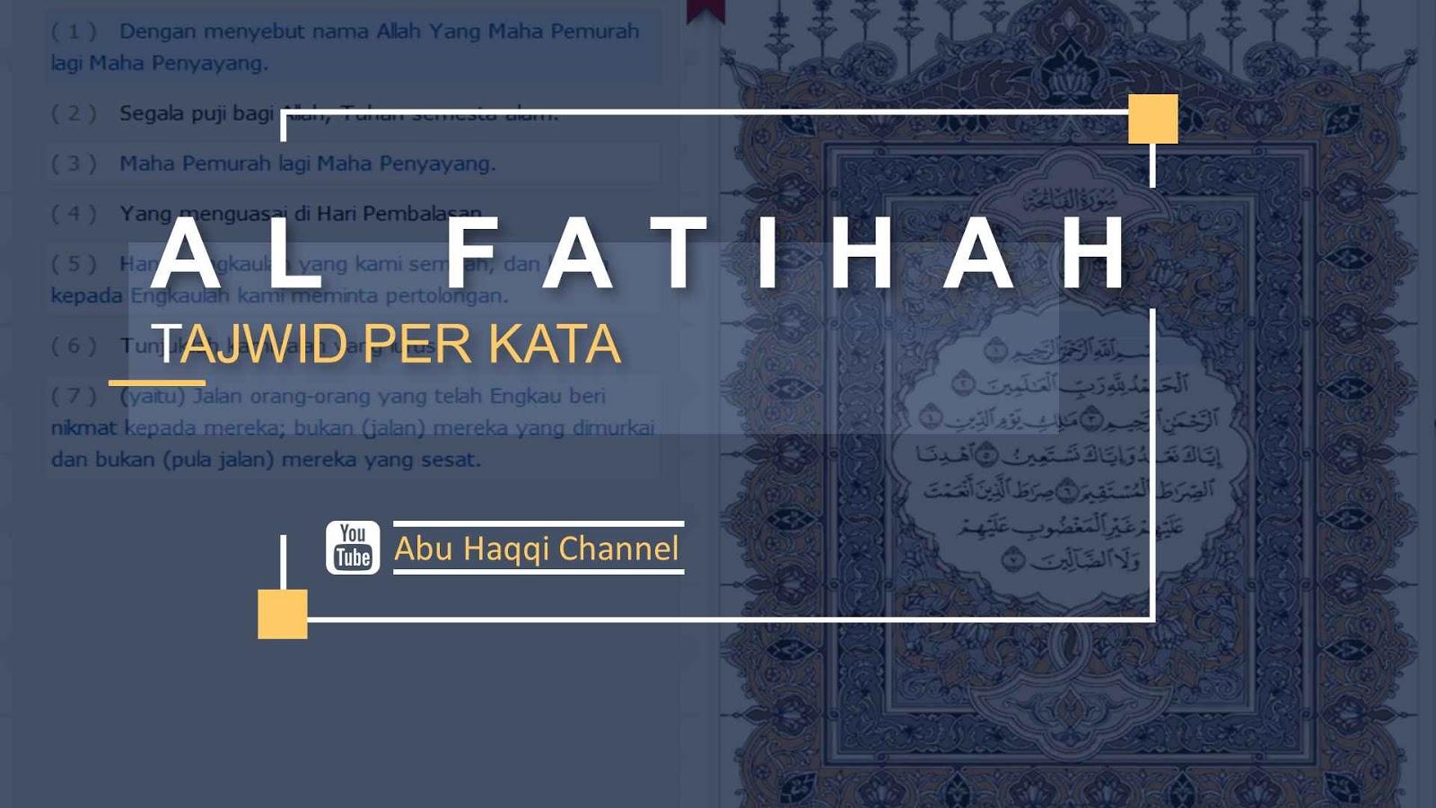 tajwid surat al fatihah
