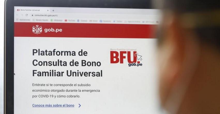 BFU - BONO UNIVERSAL: Ayuda económica puede cobrarse en 9 mil cajeros y 10 mil agentes Multired vía banca celular - www.bfu.gob.pe.