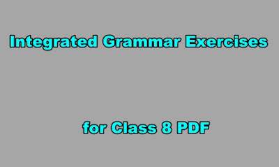 Integrated Grammar Exercises for Class 8 PDF