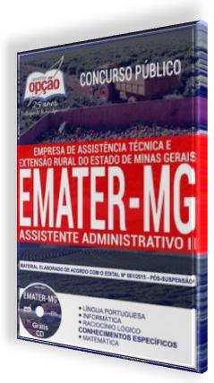 Apostila Emater-MG cargo Assistente Administrativo II