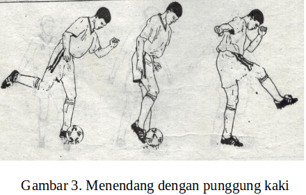 Teknik menendang bola dengang punggung kaki