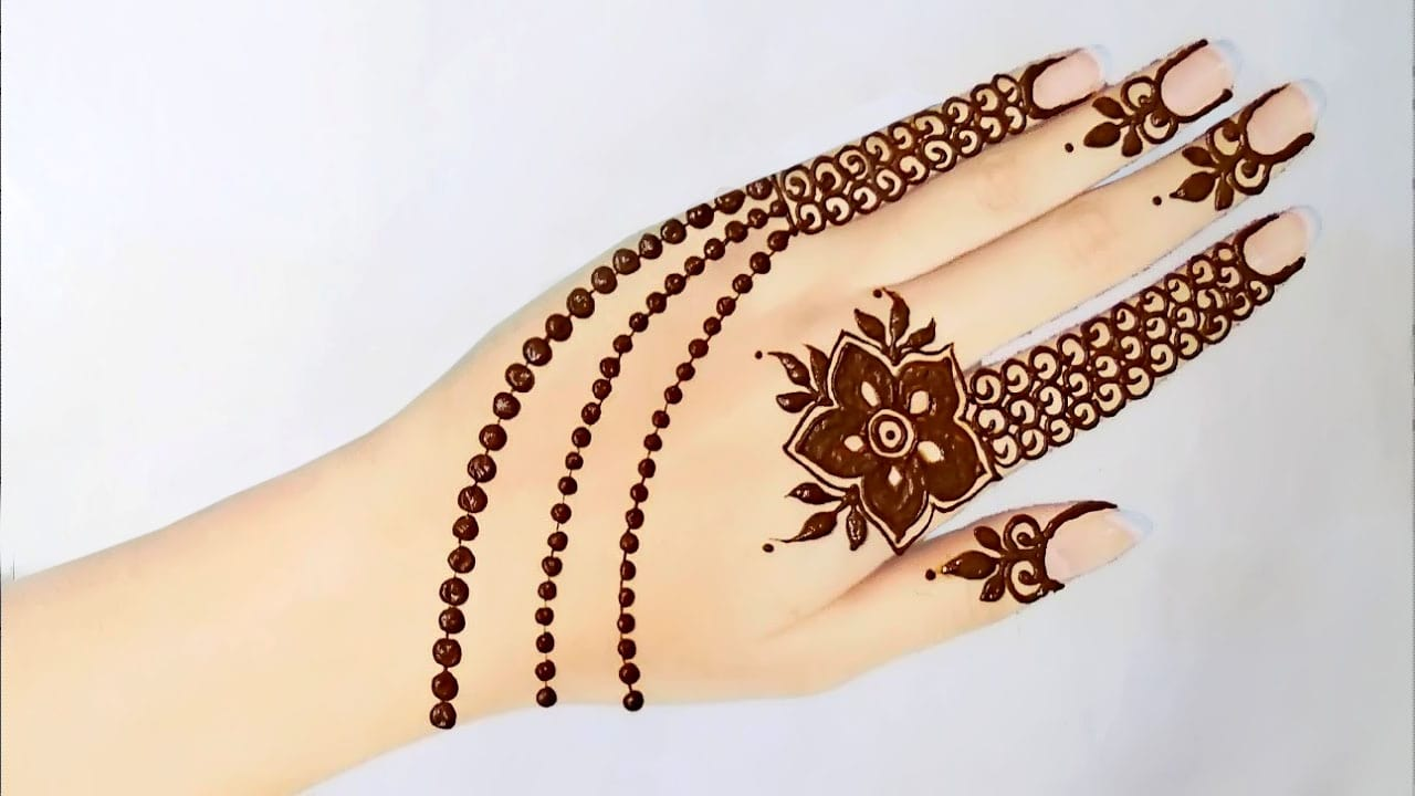 Jewellery Style Design with Flower for girls