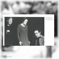 Η Μαρία Μοσχολιού στην παράσταση «Ο Άγιος Γεώργιος σκοτώνει το δράκο» του Ντούσαν Κοβάτσεβιτς, άνοιξη 1995